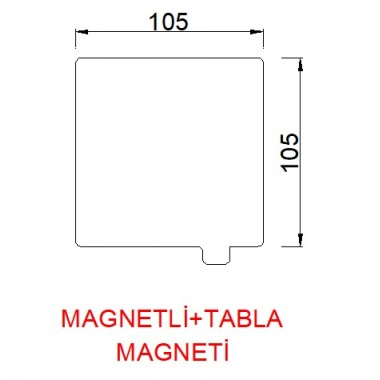 105mmx105mm(Magnetli+tabla magneti)  Paslanmaz Yay Çeliği