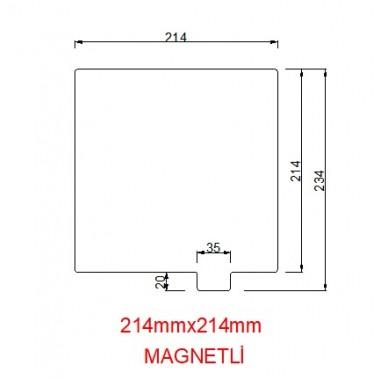 214mmx214mm(Magnetli)  Paslanmaz Yay Çeliği