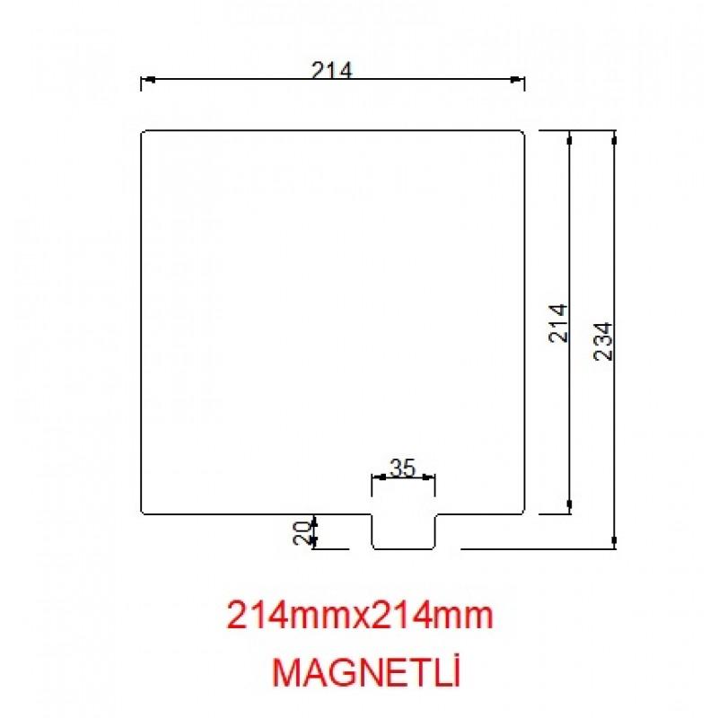 Paslanmaz Yay Çeliği 214mmx214mm(Magnetli)