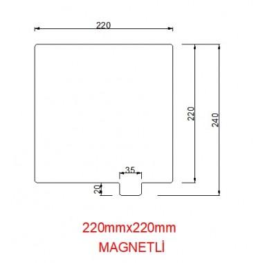 220mmx220mm(Magnetli) Paslanmaz Yay Çeliği