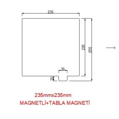 235mmx235mm(Magnetli)+Tabla Magneti Paslanmaz Yay Çeliği