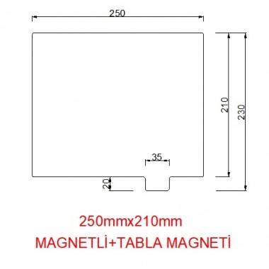 mk42-250mmx210mm(Magnetli+tabla magneti) Paslanmaz Yay Çeliği