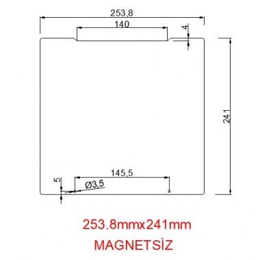 mk52-253.8mmx241mm(Magnetsiz) Paslanmaz Yay Çeliği