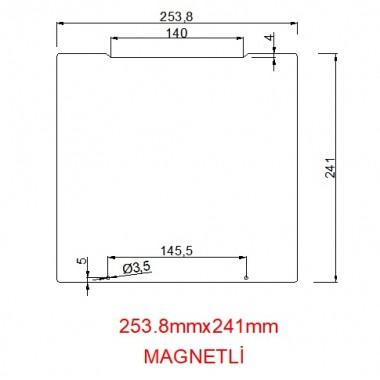 mk52-253.8mmx241mm(Magnetli) Paslanmaz Yay Çeliği
