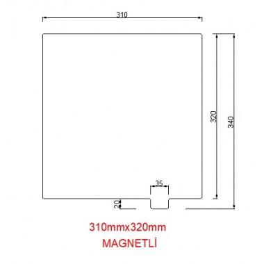 320mmx310mm(Magnetli) Paslanmaz Yay Çeliği
