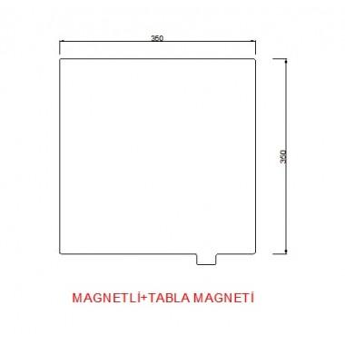 350mmx350mm(Magnetli+tabla magneti)  Paslanmaz Yay Çeliği