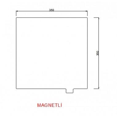 350mmx350mm(Magnetli)  Paslanmaz Yay Çeliği